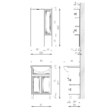 BIANKA PLUSZ 55 Fürdőszobaszekrény kombináció TBOSS