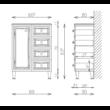 BIANKA PLUSZ 60-as Alacsony 1A 4F  Fürdőszobabútor 836*600 TBOSS