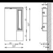 BIANKA PLUSZ 55 Fürdőszoba tükör szekrénnyel  TBOSS