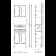 BIANKA PLUSZ 60-as MAGAS 2F 4A NYITOTT Fürdőszobabútor 1920*600 TBOSS