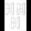 KOLO F120 1 ajtó 2 fiók FALI kiegészítő Fürdőszobaszekrény TBOSS