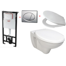 Alcaplast A101/1120 falsík alatti WC tartály szett akció fényes króm nyomólappal
