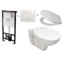 Alcaplast A101/1120 falsík alatti WC tartály szett akció fehér nyomólappal