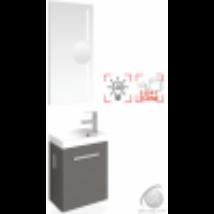 MODENA 40 LUX Mosdószekrény mosdóval + Tükör + Led világítás + nagyító TBOSS
