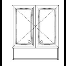 BIANKA PLUSZ 60-as Faliszekrény 2A 1ny polc Fürdőszobabútor 698*600 TBOSS