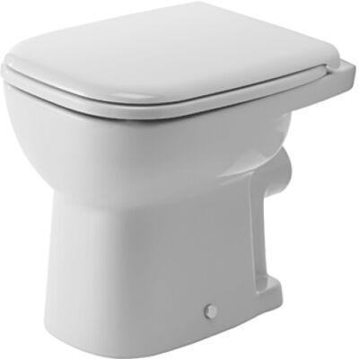 D-CODE  álló WC, síköblítésű, hátsó kifolyású, fehér  DURAVIT