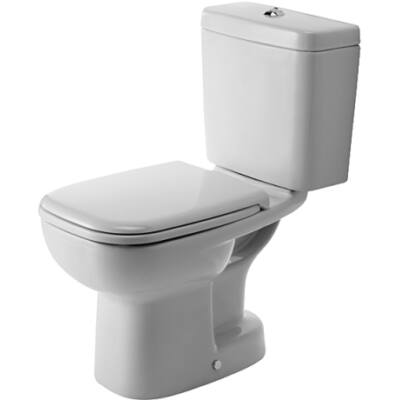 D-CODE  monoblokk WC, mélyöblítésű, alsó kifolyású, fehér  DURAVit
