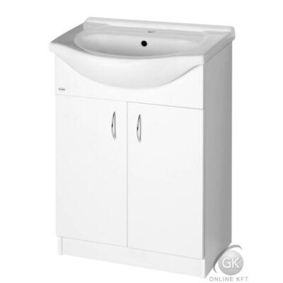 AQUALINE SIMPLEX ECO 65 mosdótartó szekrény mosdóval LAPRASZERELT