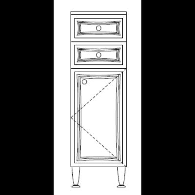 BIANKA PLUSZ 33-as Alacsony 2F 1A  Fürdőszobabútor 1040*330 TBOSS